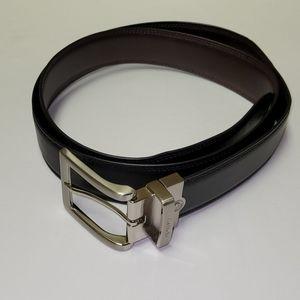 Nautica Black Brown Reversible Belt